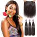 Virgin Straight Hair Bundles With 13x4 Lace Frontal