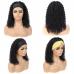Headband Wig Human Hair Kinky Curly Wig