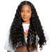 Deep Wave Lace Closure Wig Made By Bundles With Closure 180% Density