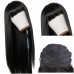 Machine-made Wig Natural Straight Lace Wig With Bangs