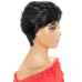 Wavy Natural Color Pixie Cut Human Hair Wig Machine-made Wig for Women