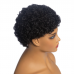 Afro Kinky Curl Natural Color Pixie Cut Human Hair Wig Machine-made Wig for Women