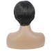 Natural Color Pixie Cut Human Hair Wig Straight Machine-made Wig for Women