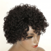 Natural Color Pixie Cut Human Hair Wig Jerry Curl Machine-made Wig for Women