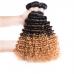 T1B/4/30 Ombre Hair Bundles Virgin Deep Wave Hair Weave