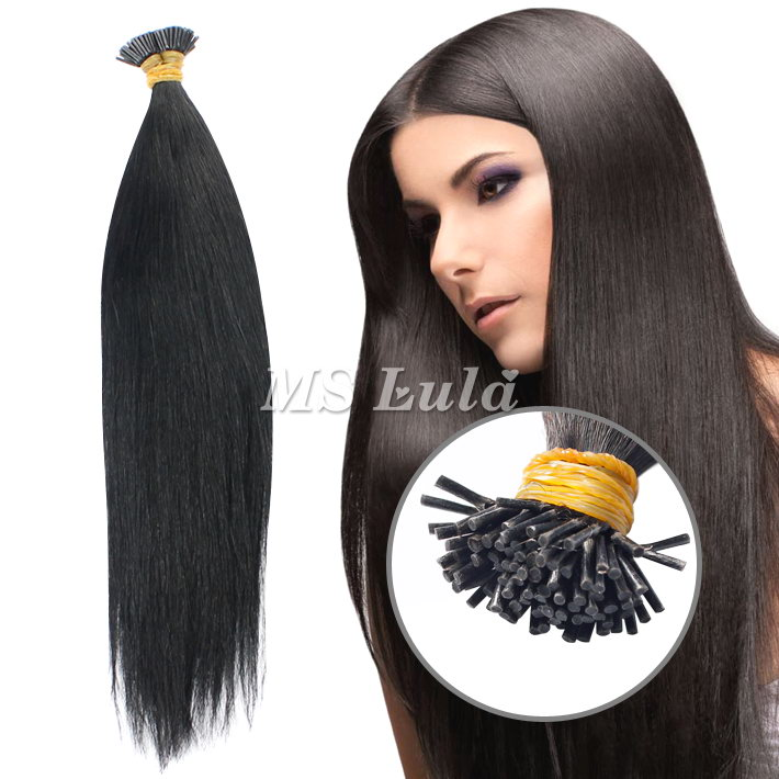 100% Virgin Remy Human Hair I Tip Hair Extensions