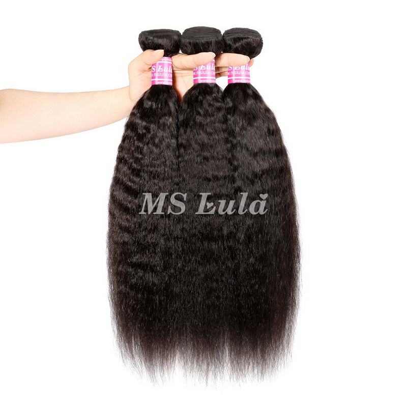 Virgin Hair Weave Kinky Straight