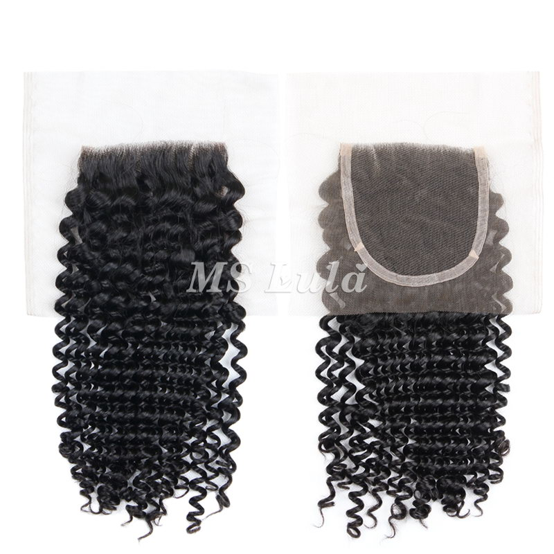 4X4 Virgin Human Hair Italy Roman Curl Lace Closure