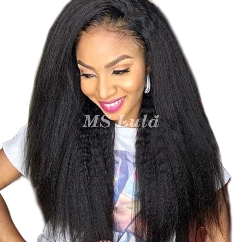 Virgin Human Hair 13x4 Kinky Straight Lace Front Wigs