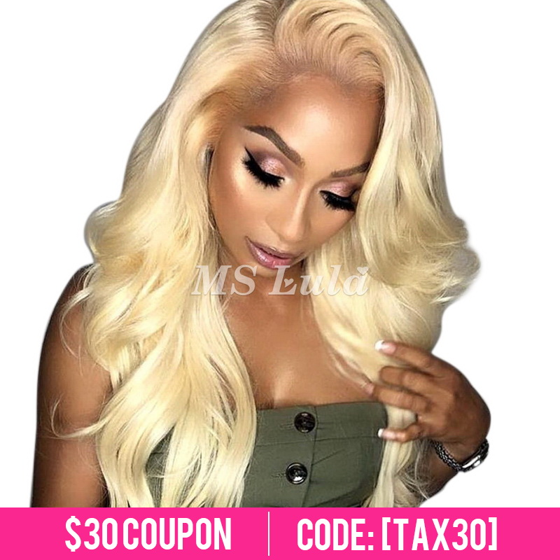 #613 Virgin Human Hair Lace Front Wigs Body Wave