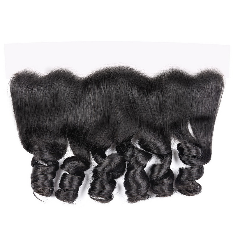 13x4 Virgin Hair Loose Wave Transparent Lace Frontal Closure