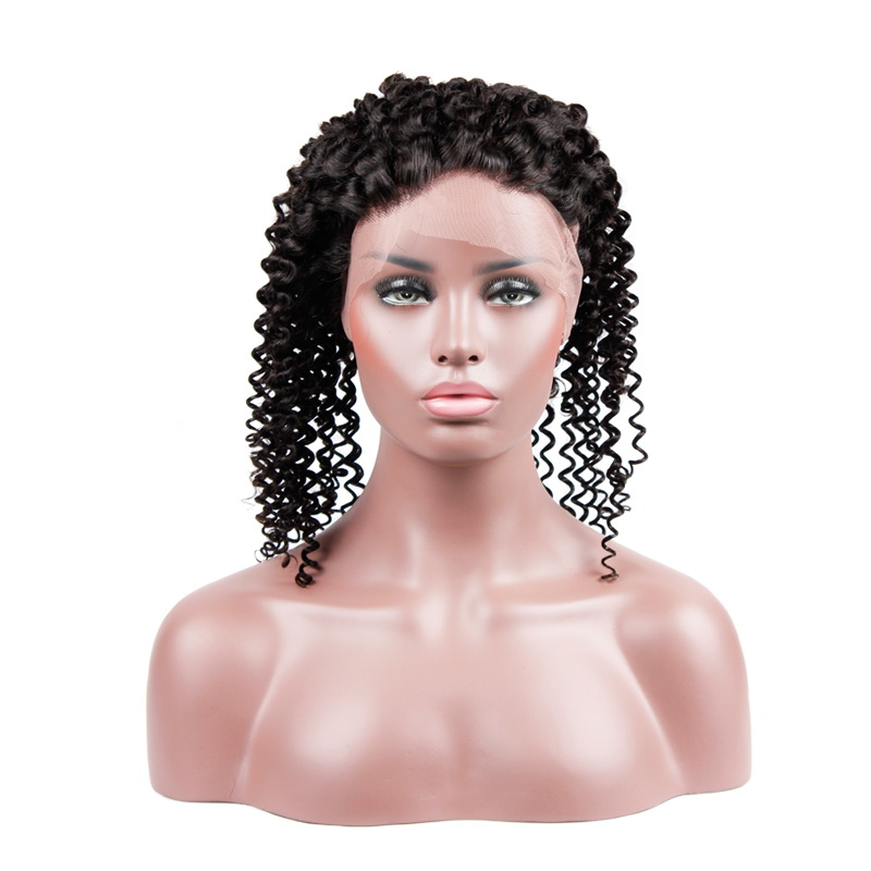 Virgin Hair Kinky Curly 360 Lace Frontal Closure 22.5x4x2 With Adjustable Strap