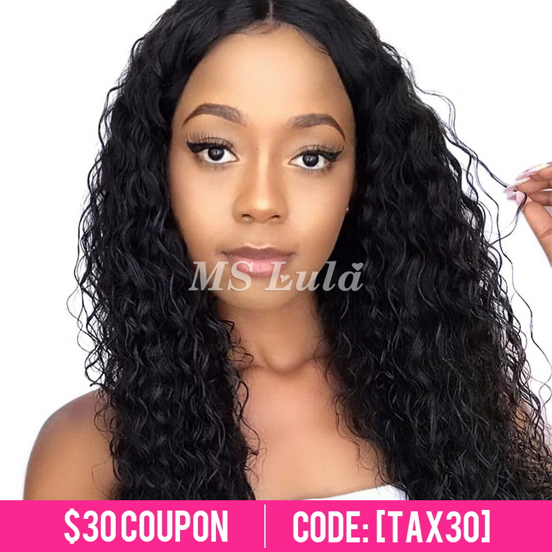 Virgin Human Hair 13x4 Deep Wave Transparent Lace Front Wigs