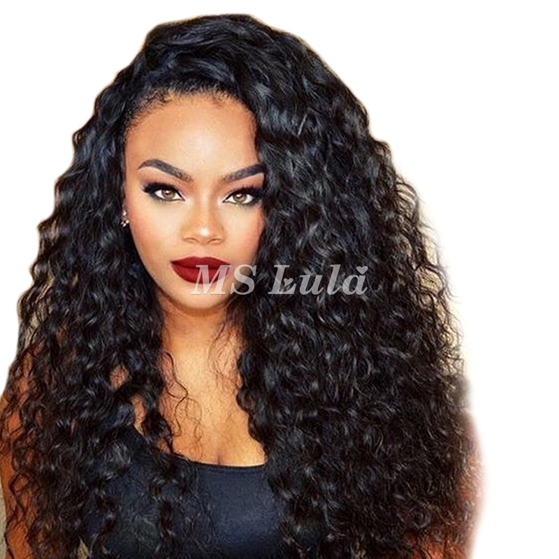 360 Pre-plucked 180 density lace front wig with baby hair all around Deep Wave