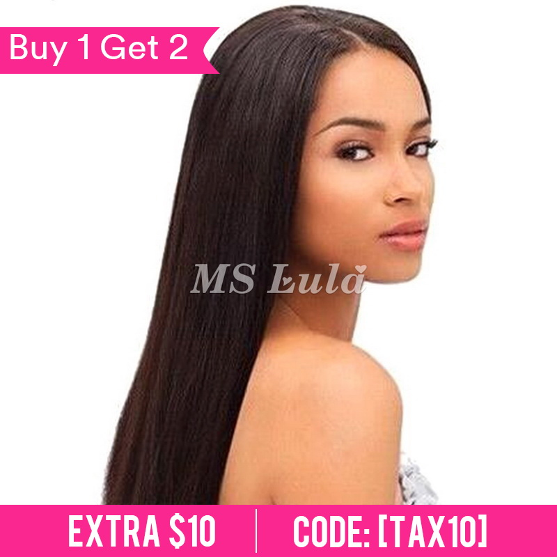360 Pre-plucked 180 density lace front wig with baby hair all around Straight