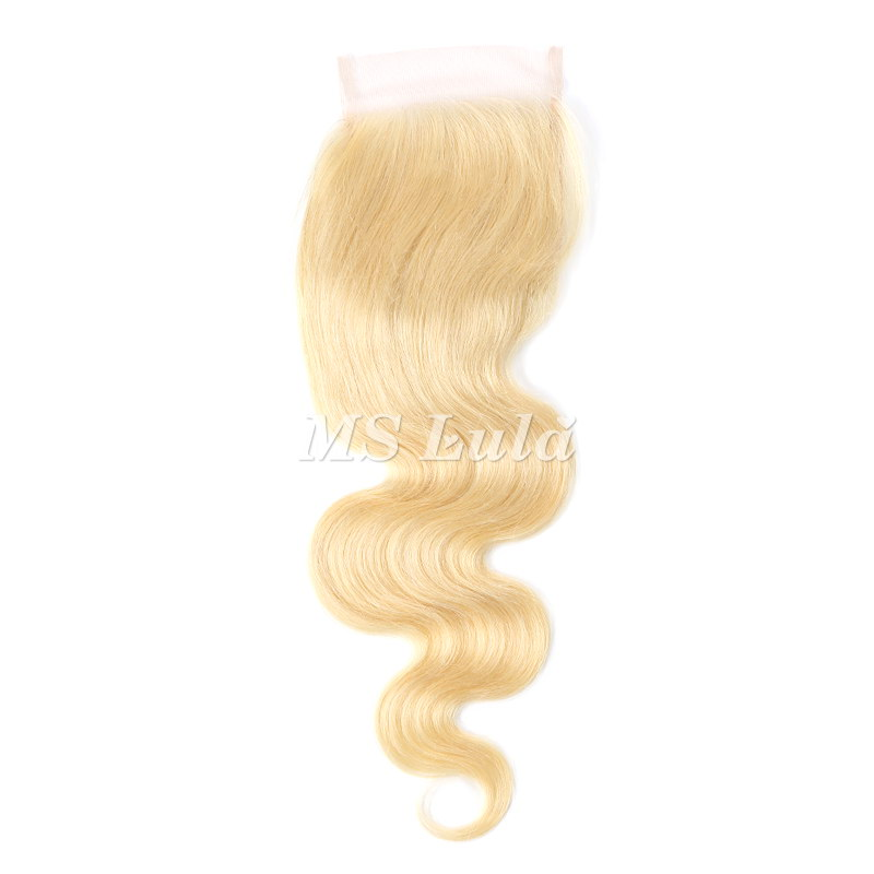 4X4 613# Virgin Hair Body Wave Lace Closure