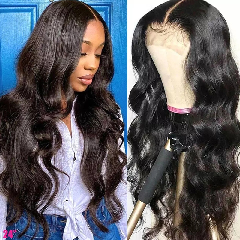 Body Wave Transparent 5x5 Closure Wig Made By Bundles With Closure