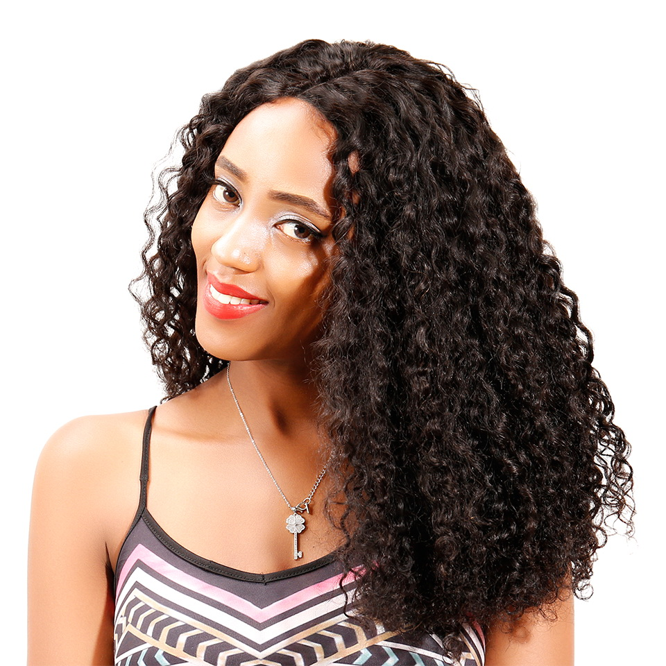 Italy Curl Lace Closure Wig Made By Bundles With Closure 180% Density