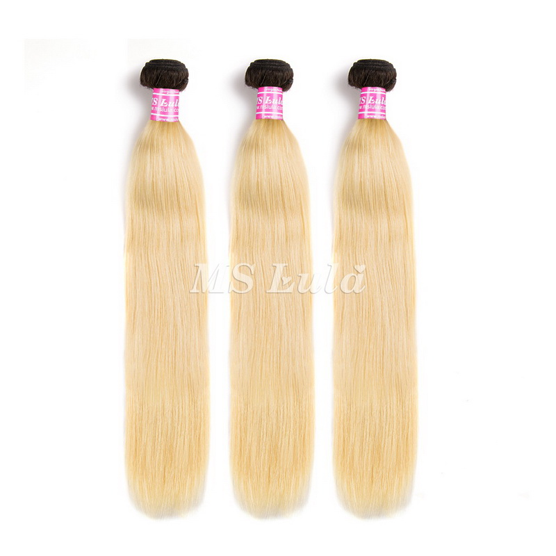 Virgin Natural Straight Hair Bundles Ombre Black Root 613#