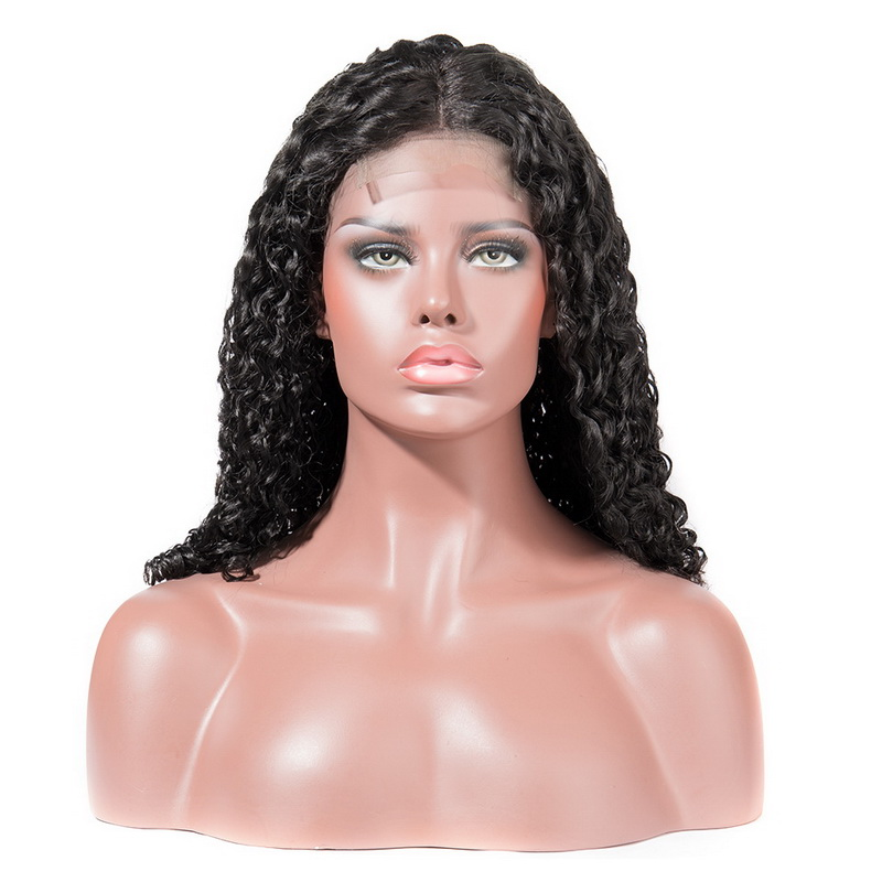 Nature Curl Lace Closure Wig Made By Bundles With Closure