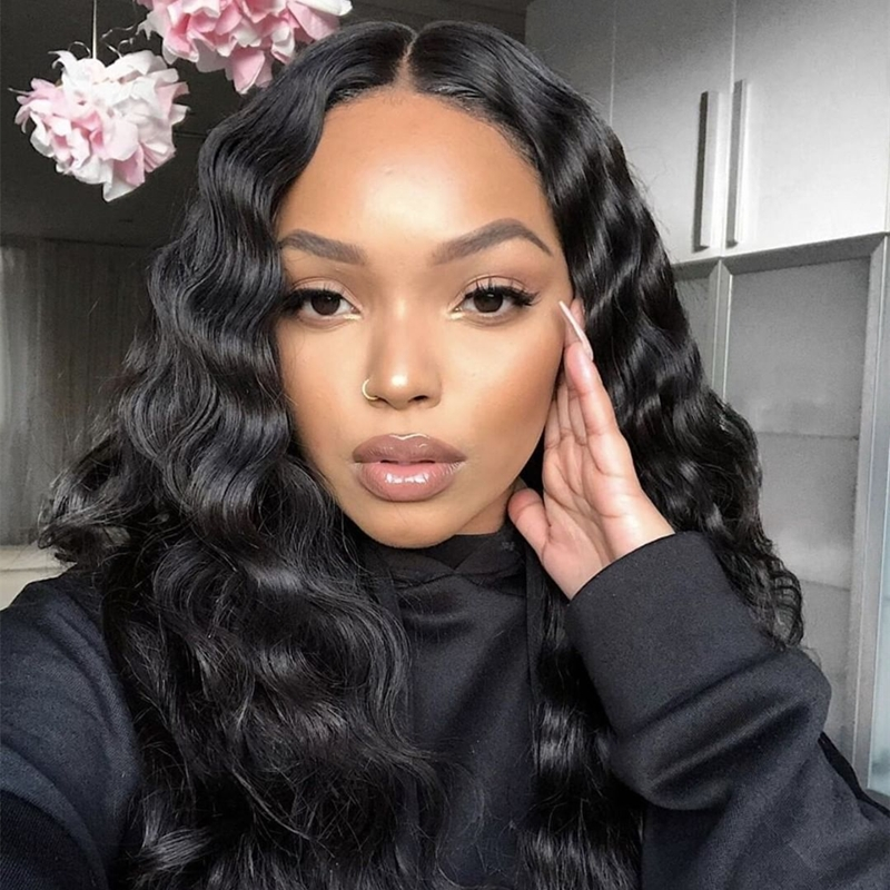 360 Lace Wig With 250 Density Loose Wave