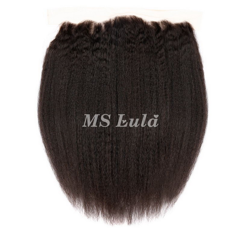 4x13 Virgin Human Hair Kinky Straight Lace Frontal