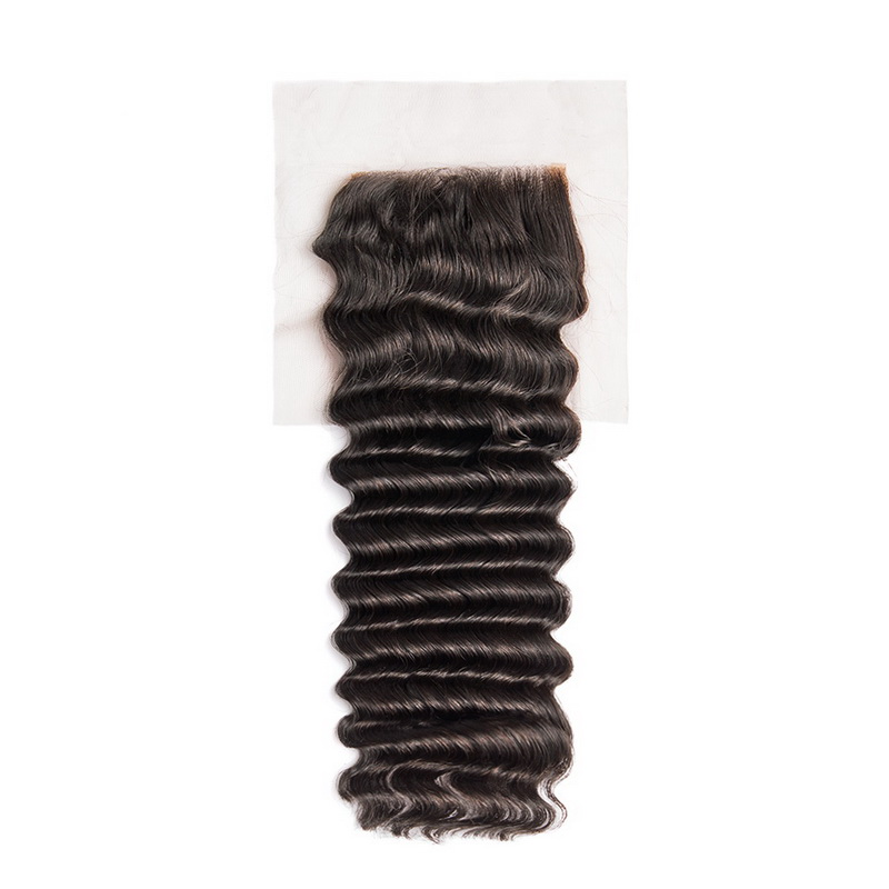 Virgin Hair Deep Wave 4X4 Lace Closure