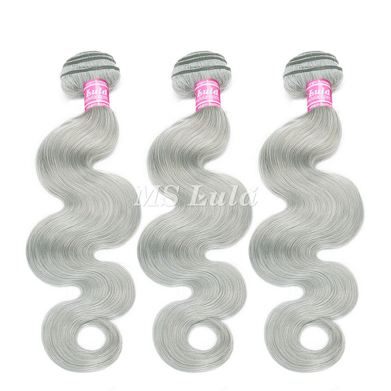 Virgin Hair Body Wave Green Grey Hair Bundles
