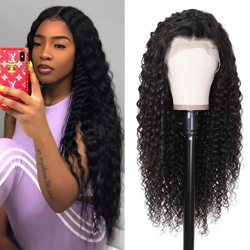 Virgin Human Hair Water Wave 360 Lace Frontal Wigs 180% Density