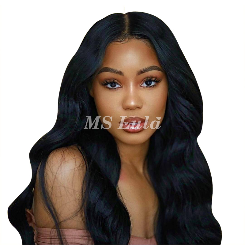 Virgin Human Hair 13x6 Body Wave Transparent Lace Front Wigs