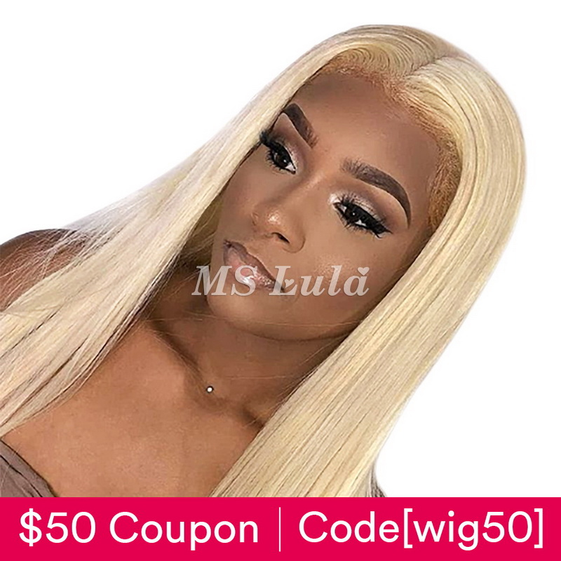 #613 Blonde 13x6 Virgin Human Hair Lace Front Wig Silky Straight