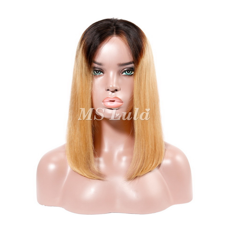 Black Root #27 Color Straight BOB Lace Front Wig