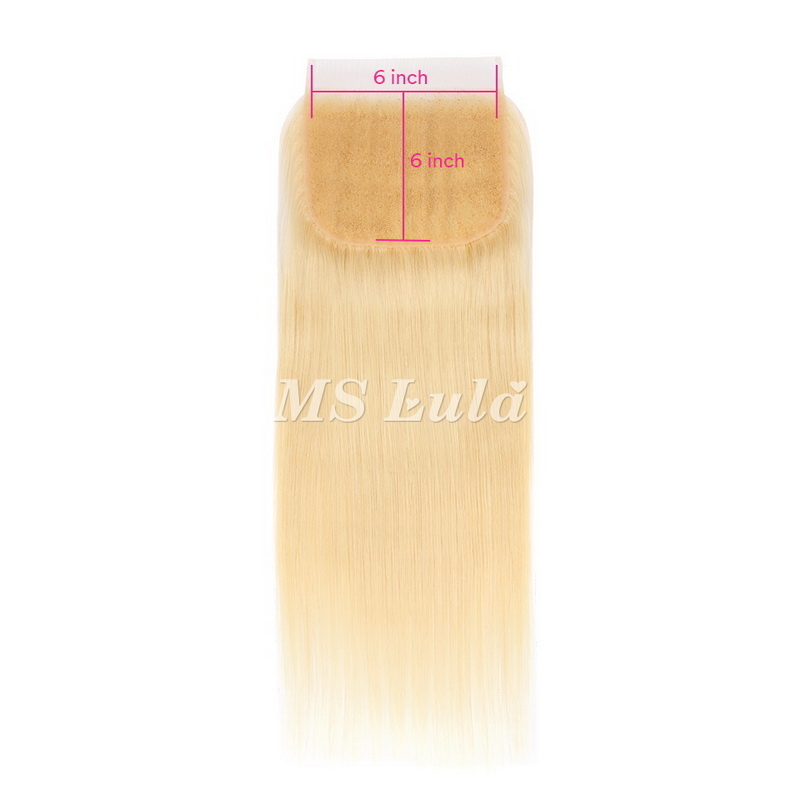 6x6 613# Virgin Hair Straight Lace Closure