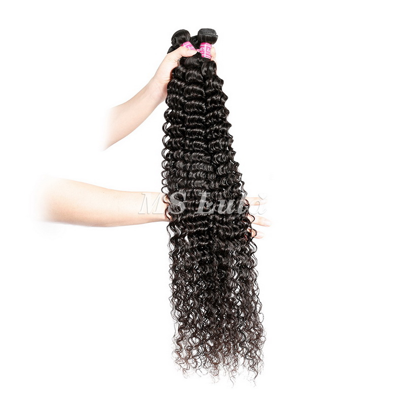 raw virgin 30-40 inches deep wave curly hair bundles