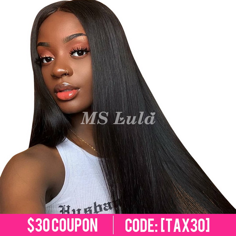 Virgin Human Hair 13x4 Straight Transparent Lace Front Wigs