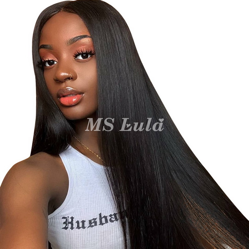 Virgin Human Hair 13x4 Straight Transparence Lace Front Wigs