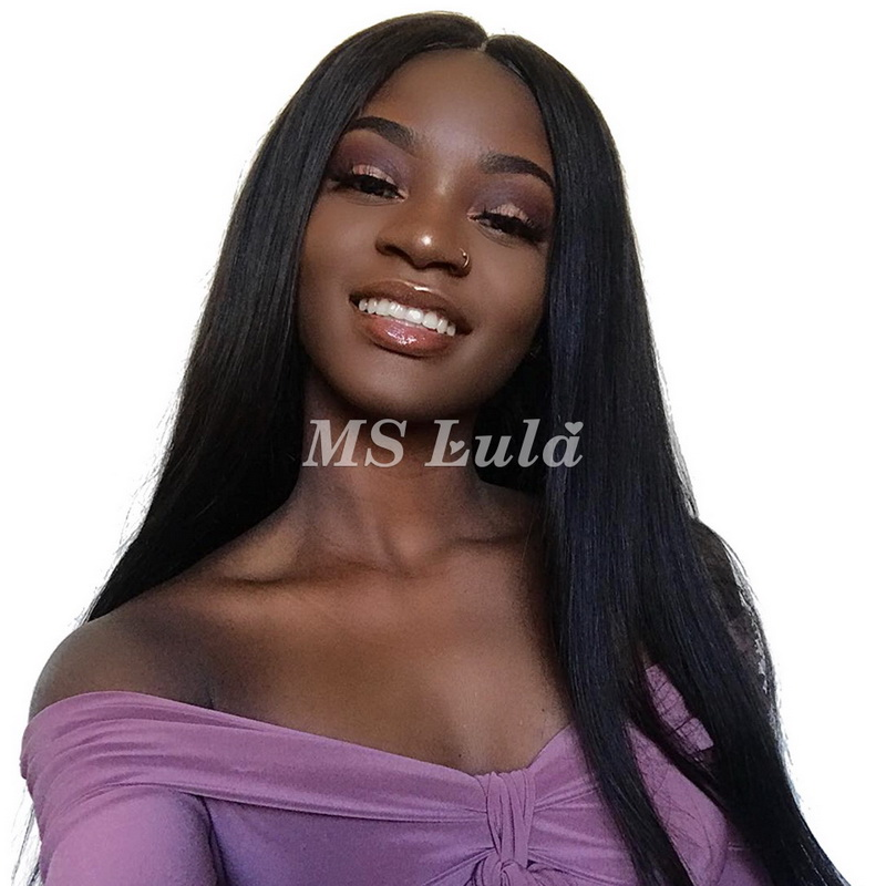 Virgin Human Hair 13x4 Straight Fake Scalp Lace Front Wigs