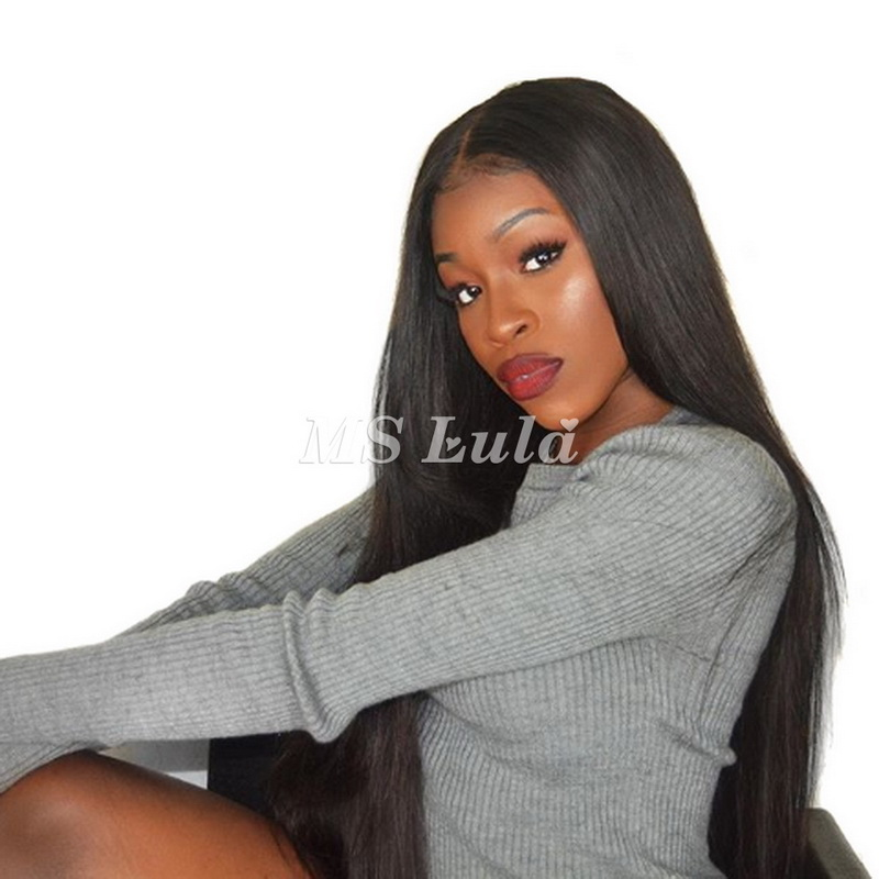 Virgin Human Hair 13x6 Straight Fake Scalp Lace Front Wigs