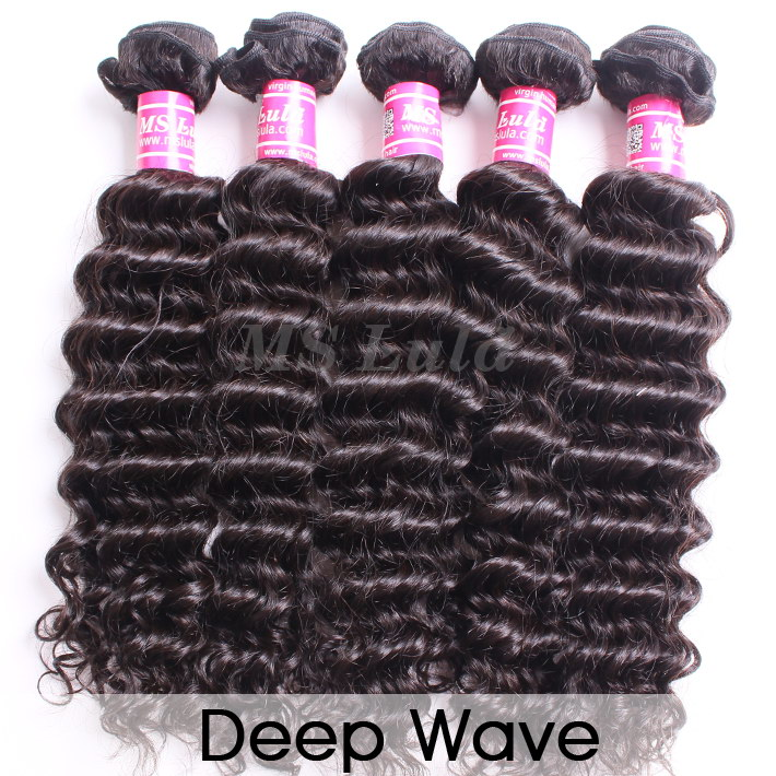 virgin hair bundles deep wave curly 5pcs