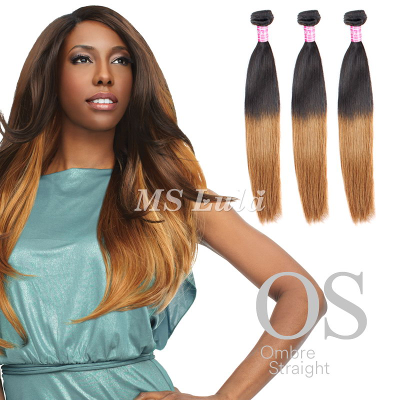 Ombre Hair Bundles Virgin Straight Hair Weave 3pcs
