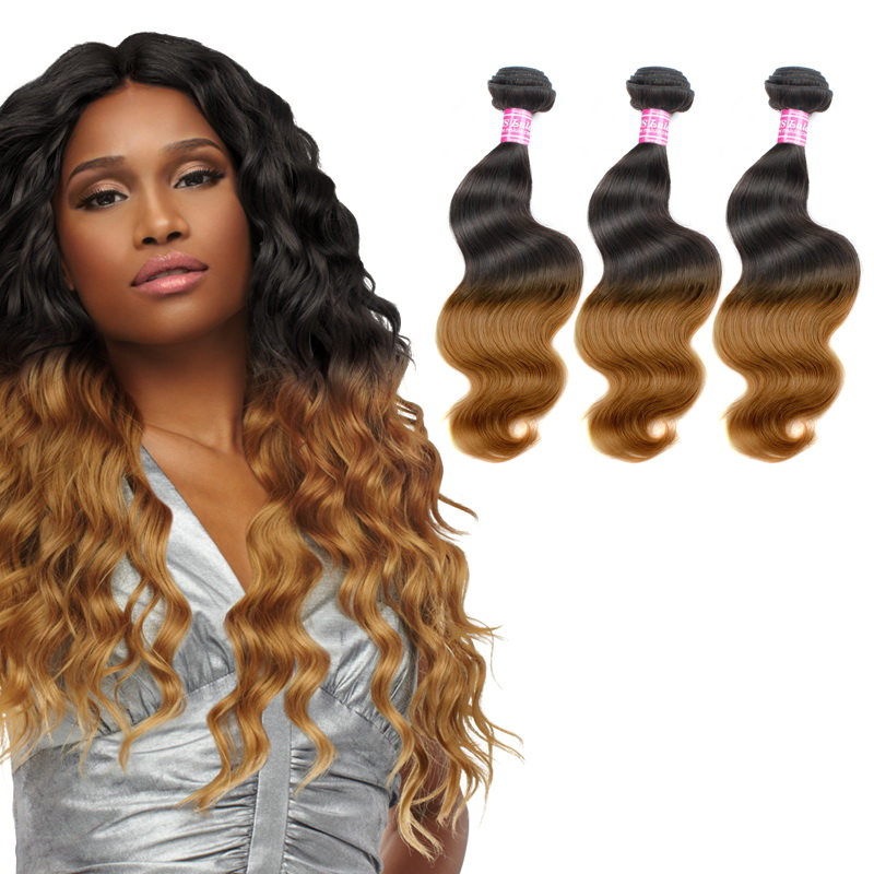 Ombre Hair Bundles Virgin Body Wave Hair 3pcs