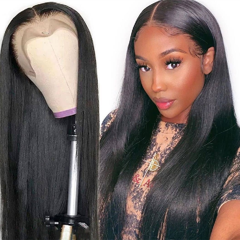 Virgin Human Hair HD 13x4 Straight Lace Front Wigs