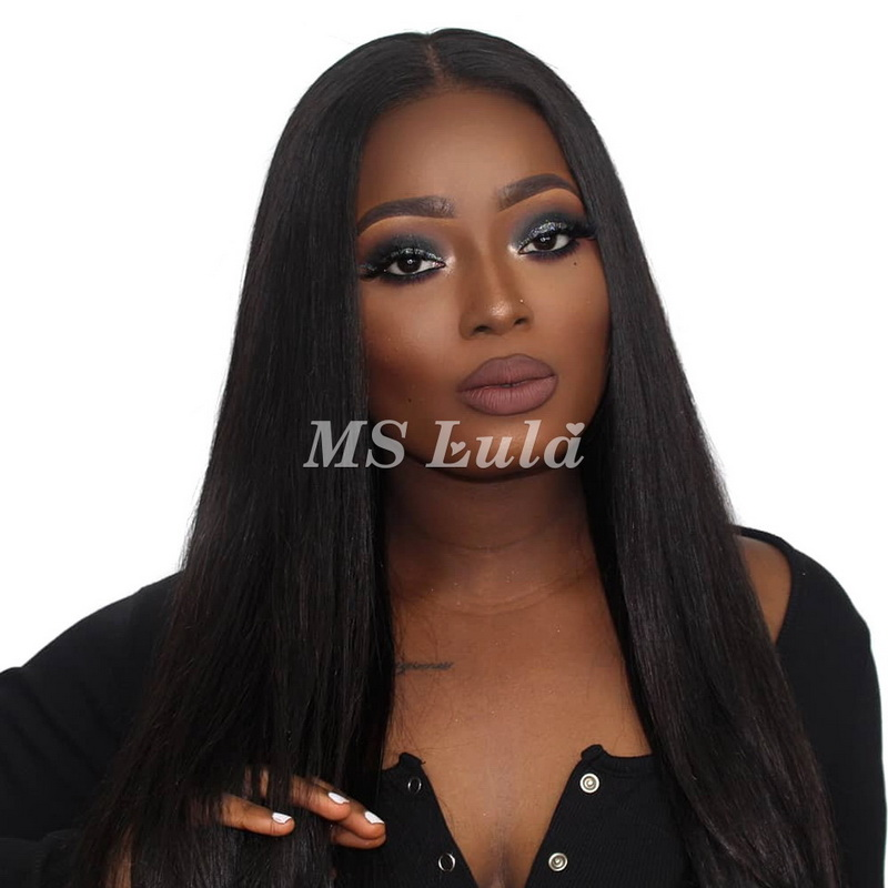 Virgin Human Hair Straight Lace Front Wigs