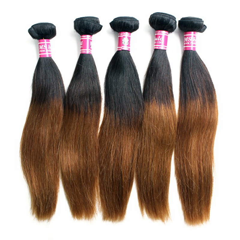 5pcs Brazilian Straight T1B/30 Ombre Hair Weave