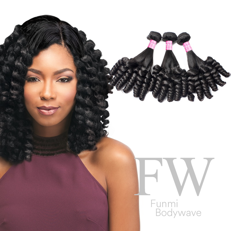 Virgin Hair Weave Bundles Funmi Curls Hair 3pcs
