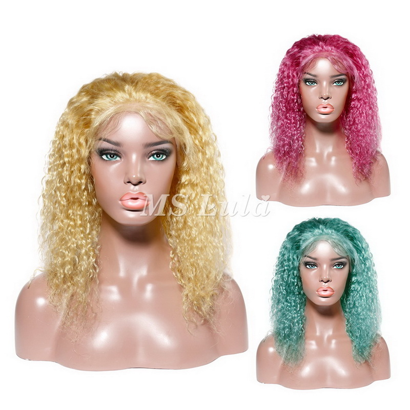 Colorful Deep Wave BOB Lace Front Wig
