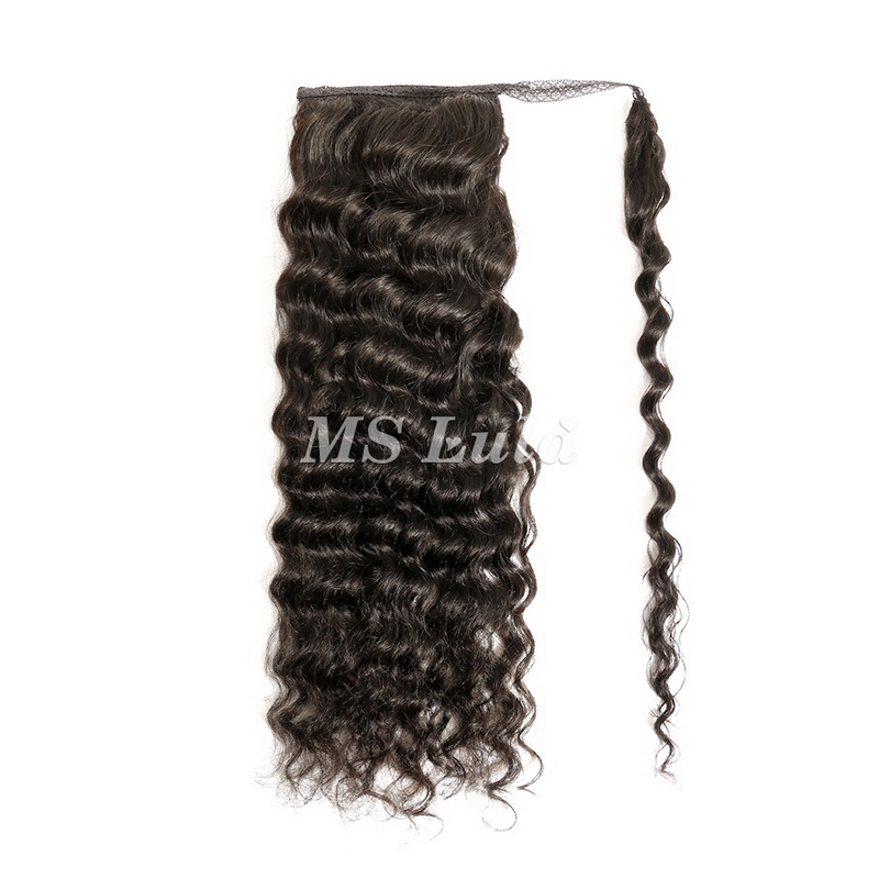 100% Virgin Remy Human Hair Loose Deep With Ponytail Remy Clip In Hair Extensions
